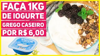 Faça 1kg de Iogurte Grego