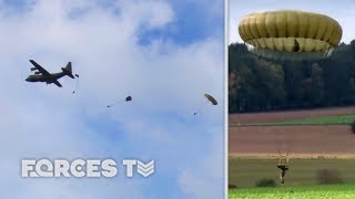 Is This A Return To 'Cold War' Training? 2 PARA Jump Into Germany | Forces TV