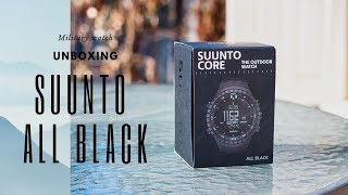 Suunto Core All Black Military Watch. Unboxing and review