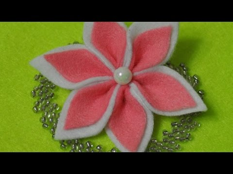 How to make a beautiful felt name diy crafts tutorial for Diy felt flower mobile