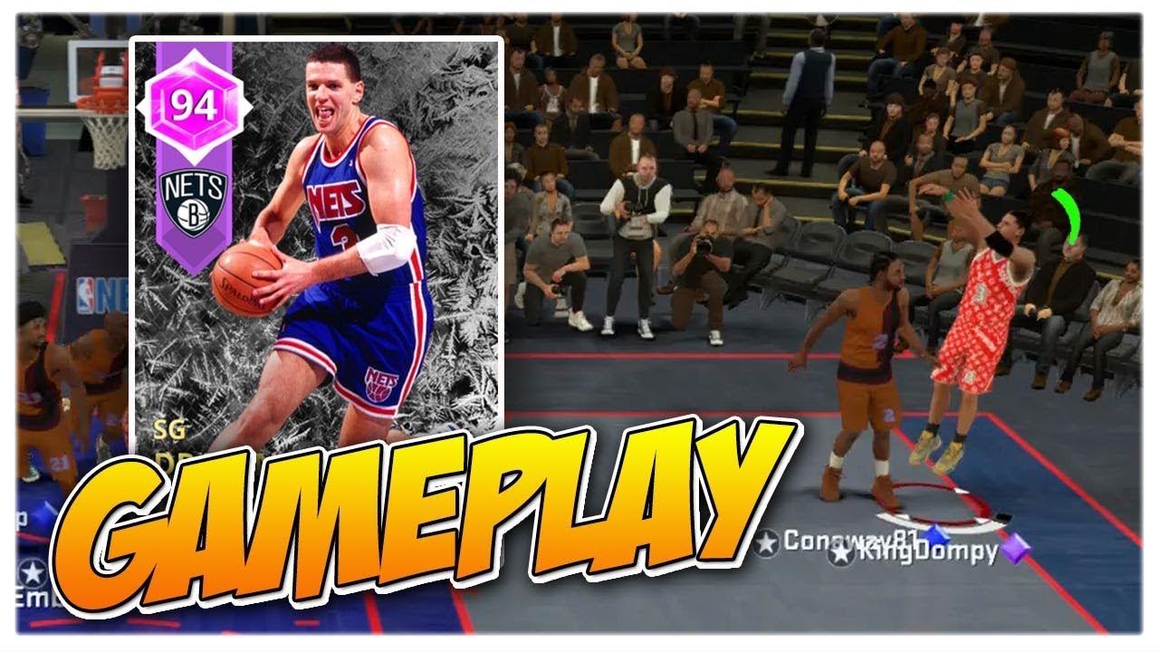 AMETHYST DRAZEN PETROVIC GAMEPLAY! BEST SHOOTER IN THE GAME!!! (NBA2K18  MYTEAM) 539b6da98