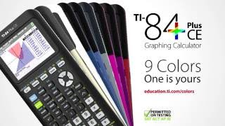 TI-84 Plus CE graphing calculator - available in 9 fun colors