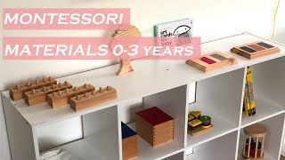 Montessori At Home Set Up | Our Collection Of Montessori Materials 0-3 Years Old | Montessori Baby