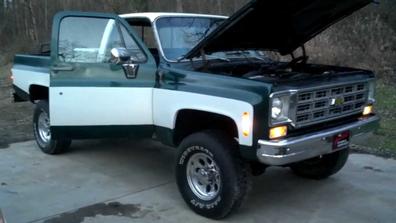 Update on the K20 Scottsdale 5.3 project truck - YouTube