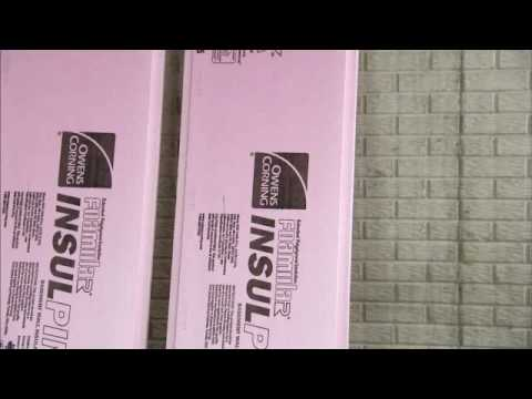 Owens Corning Basement Insulation install rigid foam insulation in basement video - youtube