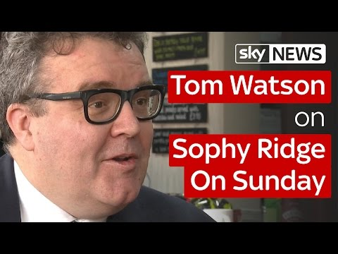 Full Interview: Tom Watson on Sophy Ridge on Sunday