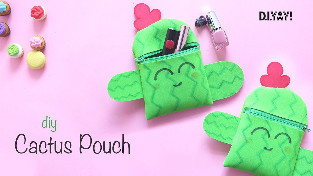 DIY Cat pouch | DIY Zipper Pouch No Sew | DIY Gift Pouch