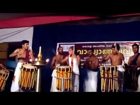 THAYAMBAKA ( TRADITIONAL KERALA DRUMS CHENDA)PERFORMANCE BY FEW YOUNG TALENTS- part 1