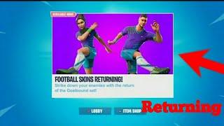 Fortnite soccer skins returning *CONFIRMED* returning date