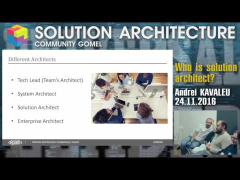 Who is solution architect? - Architecture Community Gomel