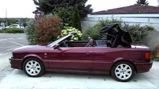 Fermeture capote audi 80 V6 S2 de 1997 avec 177800 kms.