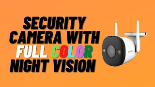 Security Camera With FULL Color Night Vision - IMOU Bullet 2E
