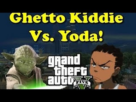 GHETTO KID TALKS SH*T ON GTA 5! (GTA 5 Yoda Voice Troll!)