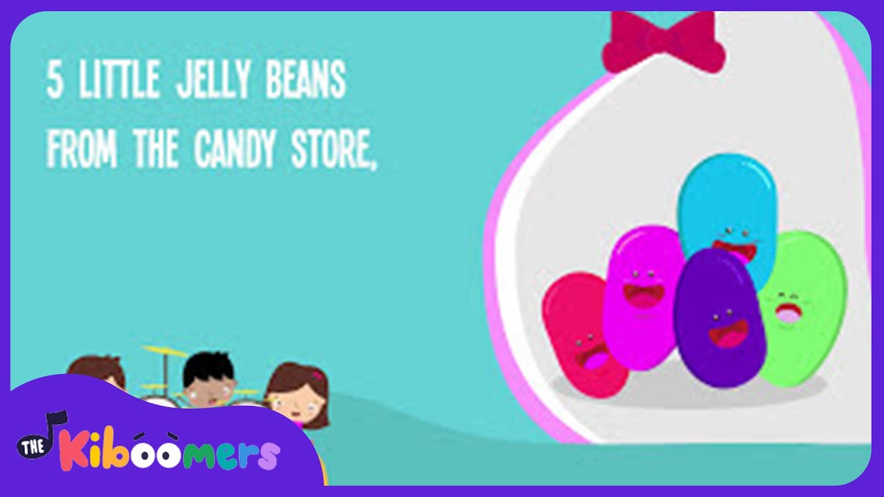 Five Little Jelly Beans | Easter Song | Colors Song | Lyrics ...