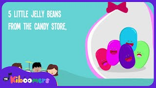 Five Little Jelly Beans | Easter Song | Colors Song | Lyrics | Numbers And Counting