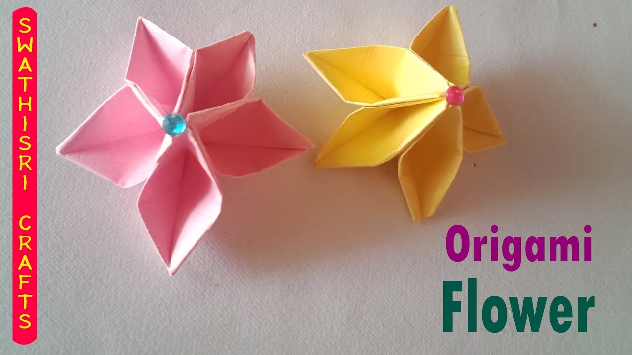How to make a paper flower - Easy origami flowers - Paper Crafts ... | 720x1280