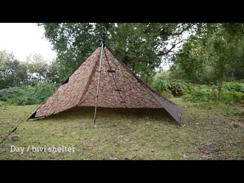 DD Tarp 3x3 - 11 shelter set-ups for bushcraft & survival