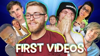 WATCHING YOUTUBERS FIRST VIDEOS