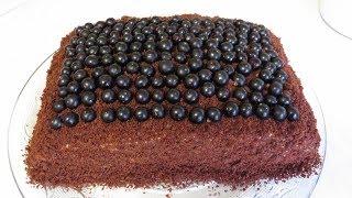 Торт ЧЕРНАЯ ЖЕМЧУЖИНА Нежнейший Бисквит и КРЕМ за 5 Минут! Простой рецепт! BLACK PEARL CAKE.