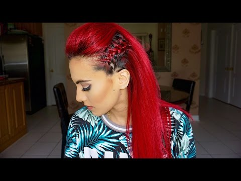 Braided Faux hawk hair tutorial