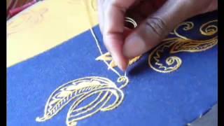 Brod'ART - Broderie traditionnelle fait main sur métier Embroidery(Madagascar terre de tradition de la broderie fait main A partir de vos illustrations (Texte, Dessin, Photos) nous réalisons sur mesure VETEMENT Chemise, ..., 2015-05-25T12:51:22.000Z)