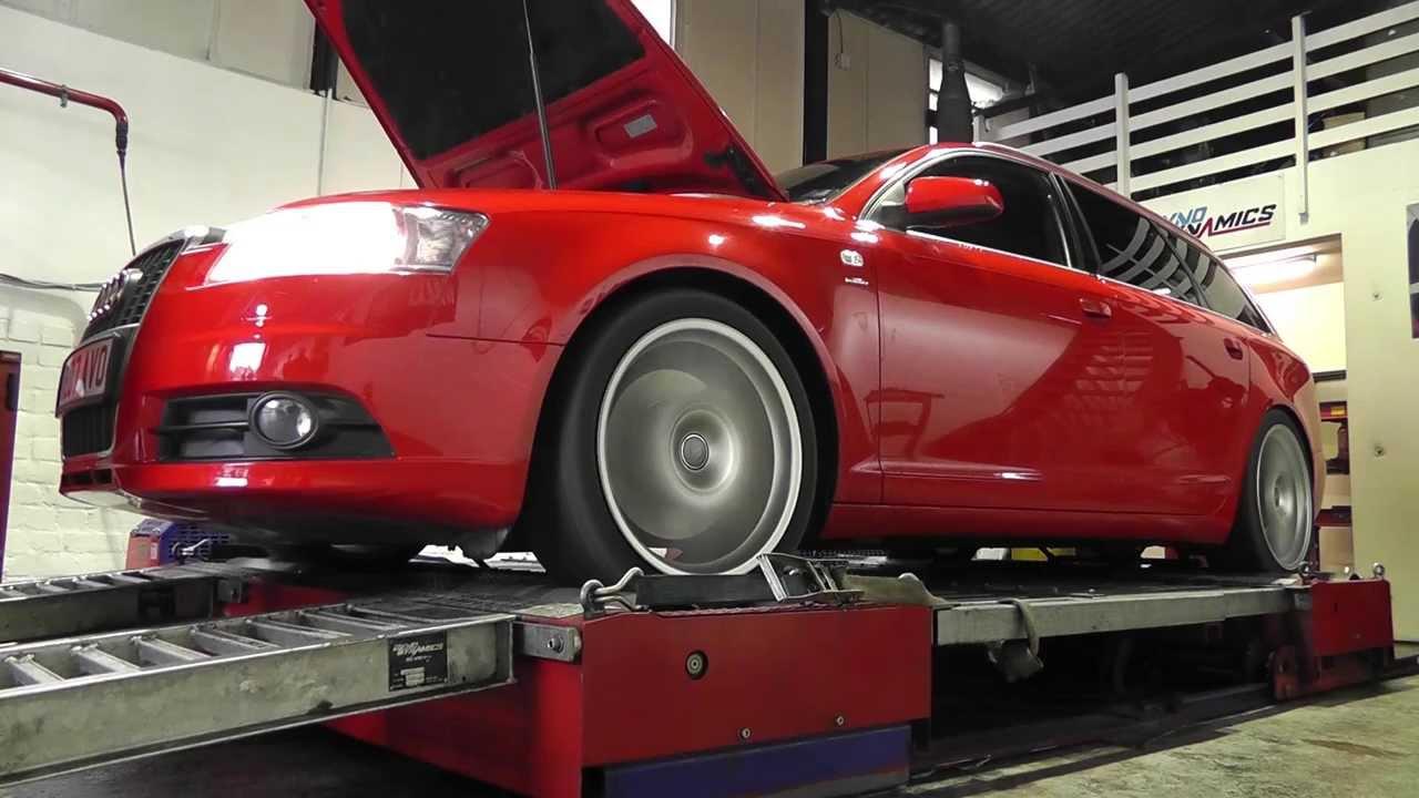 Exhaust power dyno test Audi A6 3.0 TDI - YouTube on
