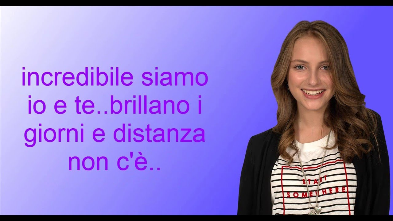 Incredibile alex co lyrics youtube for Karaoke alex e co