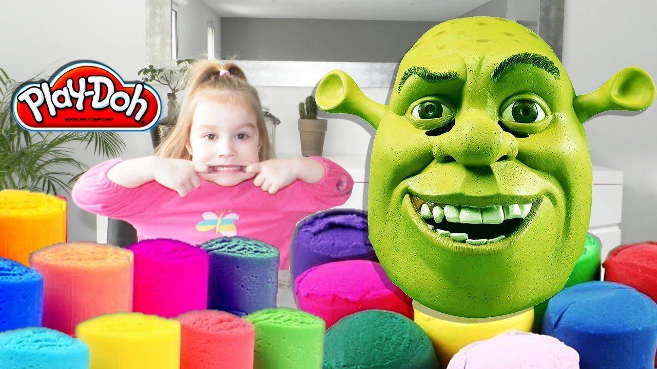 Confection d'une tête de Shrek en pâte à modeler ! - YouTube