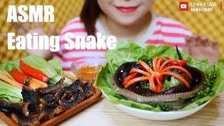 ASMR Eating Snake,traditional food,mukbang,eating sound| LINH-ASMR