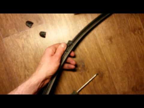 Replacing wiper rubbers Astra J 5d Замена резинок щеток стеклоотчистителя Астра J