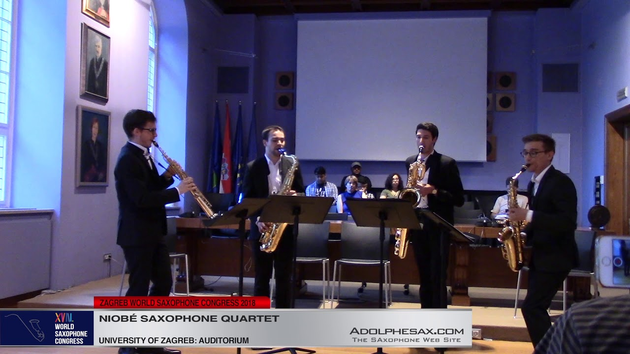 Jeux d´enfants by Georges Bizet    Niobe? Saxophone Quartet   XVIII World Sax Congress 2018 #adolphe
