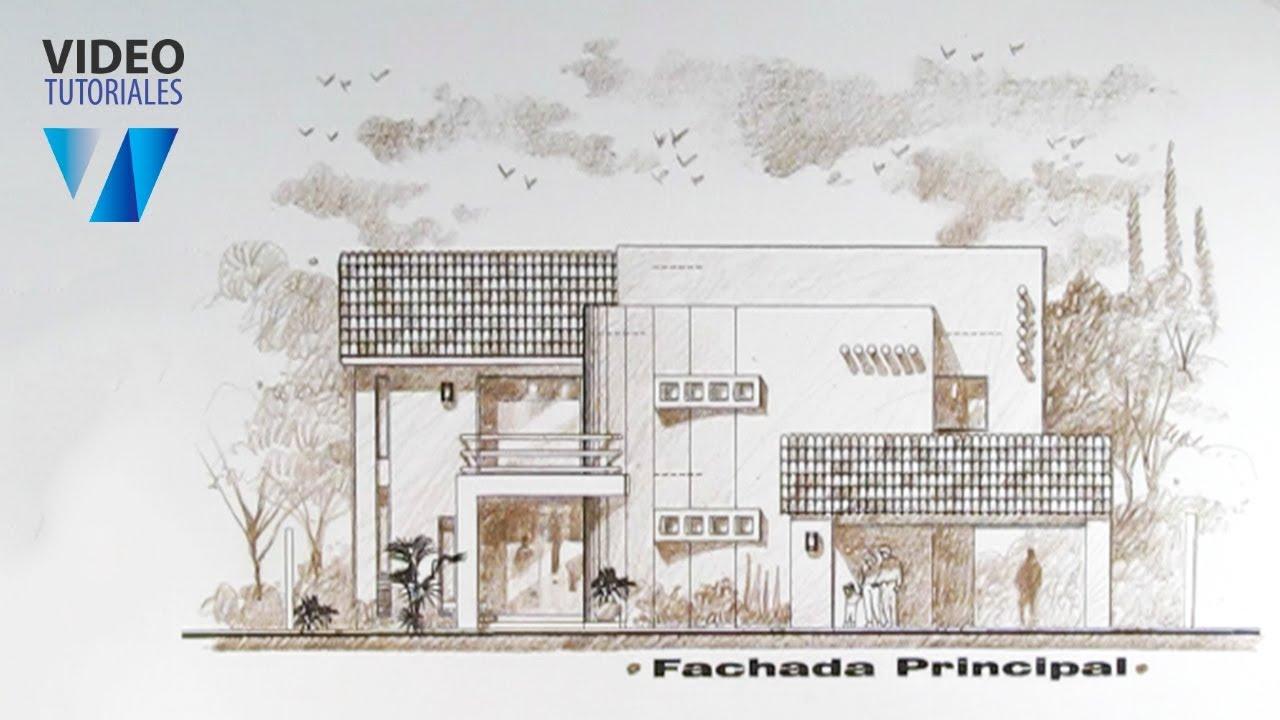 L piz de color fachada parte 1 youtube for Como hacer una fachada de casa moderna