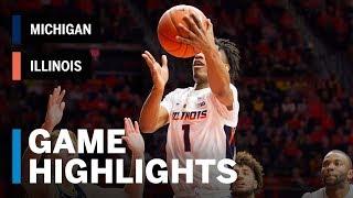 Highlights: Michigan at Illinois   Big Ten Basketball
