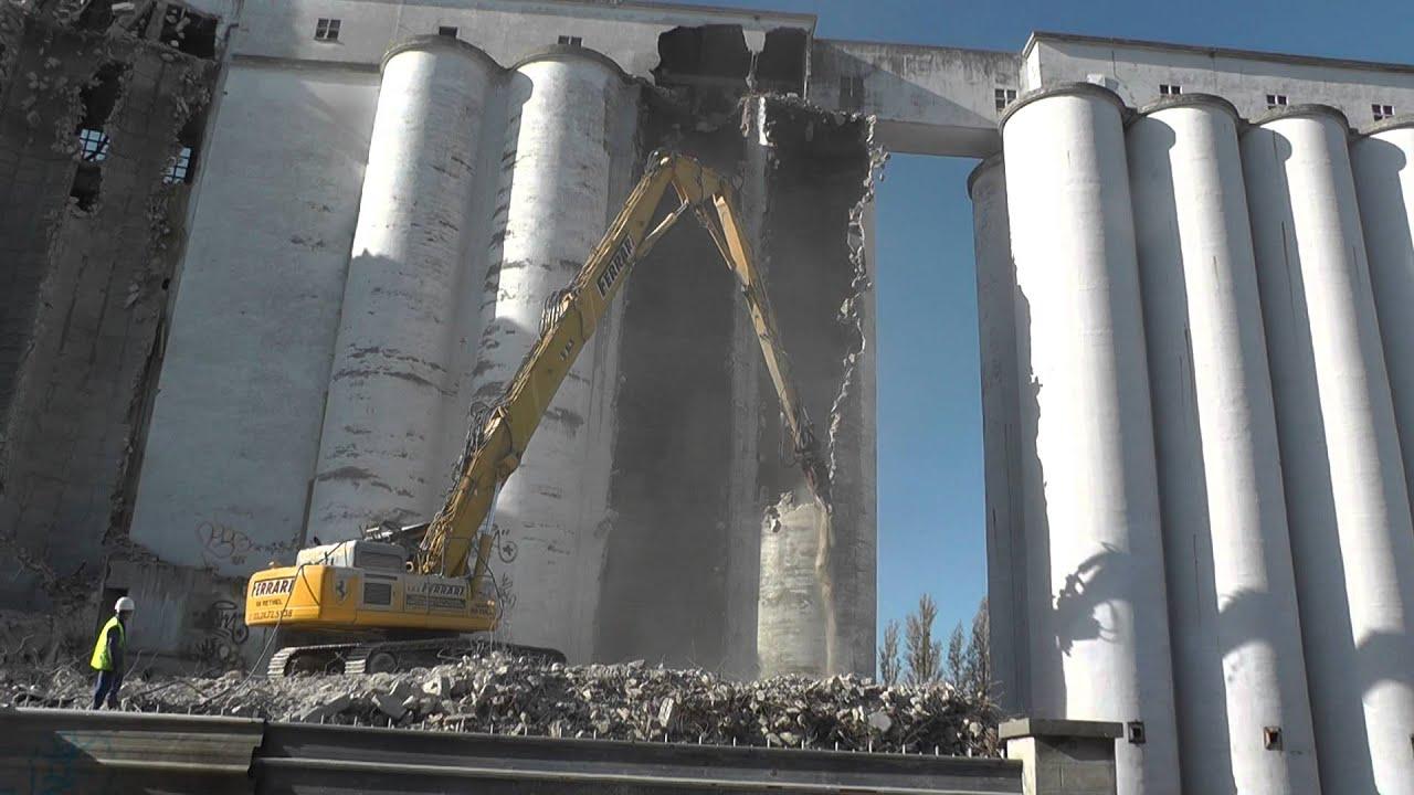 3 Silo Demolition : Démolition des silos quait saint waast à soissons