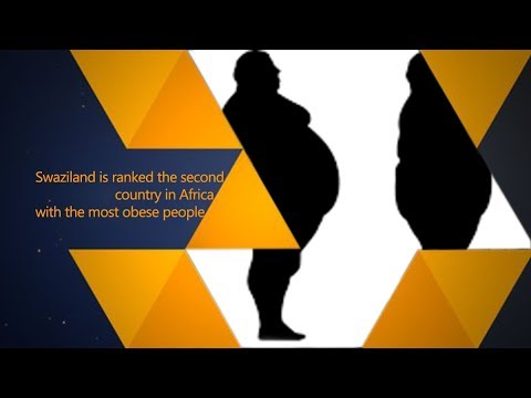 Swaziland is ranked the second country in Africa with the most obese people
