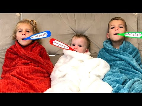 Vania has a cold | Kids play with Disney Princess Musical Tea Party Cart