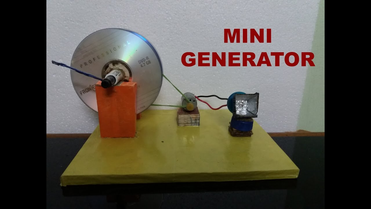 How To Make A Mini Generator Easy Way Youtube