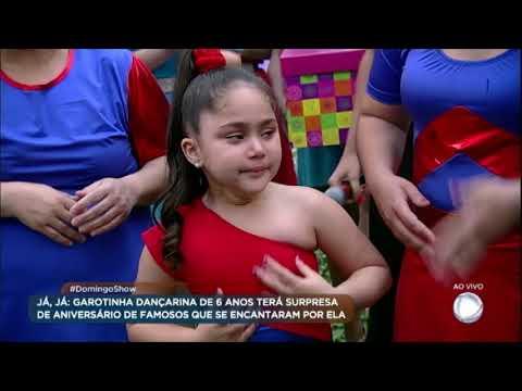 Garotinha dançarina ganha festa de aniversário surpresa no palco do programa