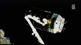 HTV-7 Rendezvous, Grapple, and Berthing (time lapse)