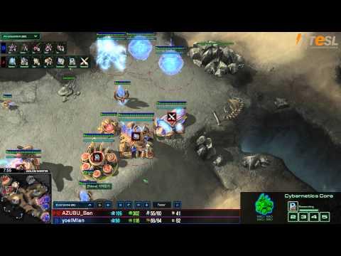 Azubu San (P) vs Ian (Z) - StarCraft 2 - TESL - Season Two Round Robin - G1
