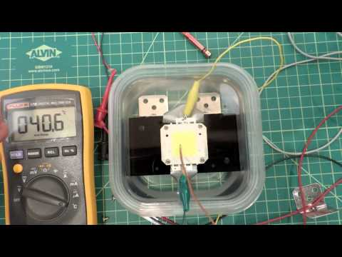 Experiments in Cooling a super bright 100W LED module