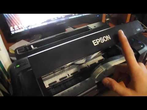 Как выполнить сброс уровня чернил epson l110