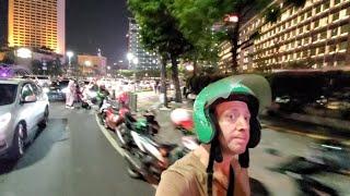 Gambar cover 🇮🇩 MOTORCYCLE TAXI GrabBike JAKARTA | Harmoni to Grand Indonesia Shopping Mall 4K
