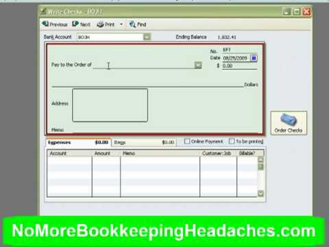 How To Record Of A Bounced Check On Quickbooks For Mac