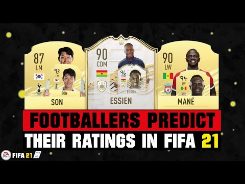 FOOTBALLERS PREDICT THEIR RATINGS IN FIFA 21! 😂😜| FT. ESSIEN, SON, MANE... etc