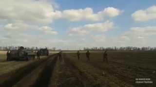 Обучение мотострелков армии ДНР. 21.03.2015