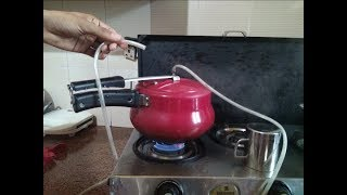 Homemade Steamer - How to make Steamer with Pressure Cooker and Rubber pipe