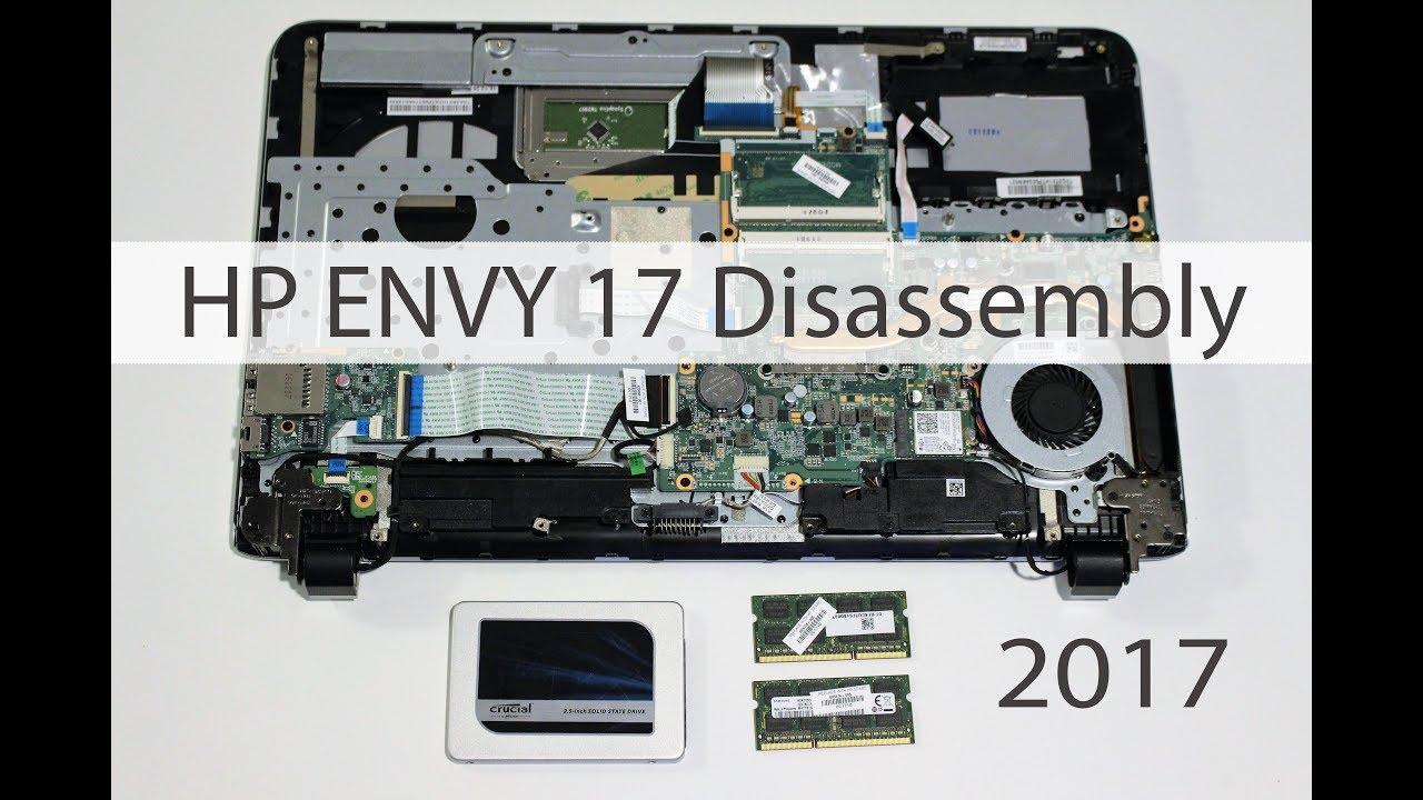 HP ENVY 17 - SSD, RAM UPGRADE