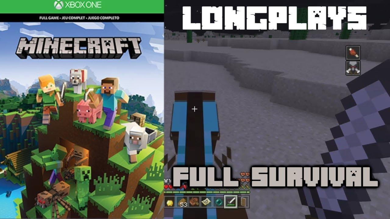 Minecraft Longplay Full Game Xbox One Walkthrough No