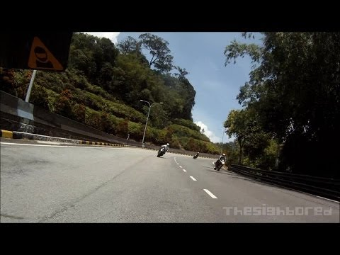 Group ride down from Genting Highlands